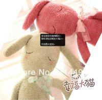Cheap 1pcs lot Sleepwalking doll Rabbit Plush Toy doll Sleep Pillow Stuffed Animal Soft Pillow Best Gift For Girl Free Shipping