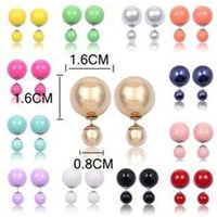 Wholesale New Colors Glass Stud Earring Pearl Fine Jewelry Fashion Transparent Crystal Ball Earrings For Women