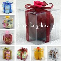 Wholesale AAA Quality cm Square Clear PVC Package Box Plastic Containers Jewelry Gift Box Candy Towel Cake Box