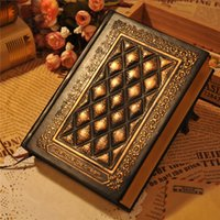 Wholesale Hardcover notebook embossed leather book vintage fashion diary