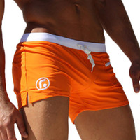 Wholesale 1603 Sexy Men Swimwear Swimsuits New Low Waist Men s Swimming Trunks Pocket Beach Surf Board Shorts Mens Swim Suits Brand AQUX