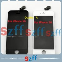Wholesale 5pcs for iPhone LCD Display Touch Screen Digitizer Full Assembly with Earpiece Anti dust Mesh Pre installed