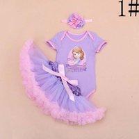 pettiskirt set - Cartoon Rompers Kid Pettiskirt Flower Headbands Girl Dress Baby Clothes Toddler Clothing Children Set Kids Suit Outfits Lovekiss C22602
