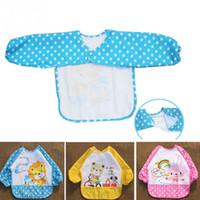 Wholesale Baby Bib Long Sleeve Waterproof Feeding Bib Clothing For Lunch Cartoon Animal Pattern Bibs Babador For Baby Itself