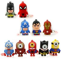 Wholesale Pen Drive Minions super heros Usb Stick GB GB GB GB Memory Stick USB Flash usb drive models free DHL FEDEX
