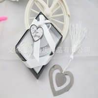 Wholesale Heart design and love design Stainless steel bookmark for Book Page Holder