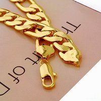 Chains solid gold jewelry - Xuping Fashion Jewelry Men s Necklace K Yellow Gold Filled Necklace Solid Chain Noble Men s Gold Necklace mm quot mm Width G