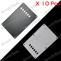 Wholesale 10 Hole Cavity Cover Spring Cover Back Plate Wiring Cover For Electric Guitar White Black Color Can Choose HGB PLK