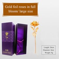 Wholesale Exquisite Creative Valentine s day craft Birthday wedding gift k gold foil plated rose lover s Gold Dipped Rose artificial flower Free DHL