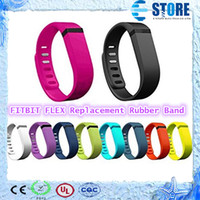 Wholesale FITBIT FLEX Replacement Rubber Band Smart Wristband Wireless Activity Bracelet Wrist band With Metal Clasp Fitness Bracelet Fashion wu
