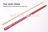Wholesale 1 pool cue maple shaft white wood maple wood butt with decal New design High quality
