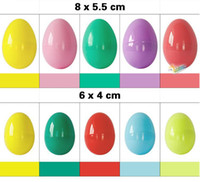 Wholesale 8x5 cm x4cm Plastic Easter Eggs For Wedding Party decoration Plastic Toy Capsule Solid Colorful eggs toys