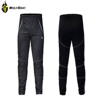 Wholesale Cycling pants double layer Breathable mesh fabric plus velvet warm trousers autumn and winter outdoor sports riding running multifunction
