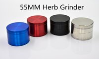 Wholesale Tobacco Metal Herb Grinder Smoking Grinder Sharp CNC Teeth MM Parts SS Red Black Blue Colors Newest Herb Grinder