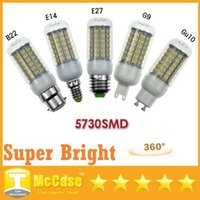 18W E27 E14 GU10 B22 G9 Ampoules LED haute luminosité 360 Angle SMD 5730 Led maïs Lumières AC 85-265V CE UL CSA