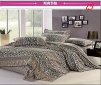 Twill leopard print bedding - new Four seasons Leopard Bed Set Bedding Sets Duvet Cover Bedding Sheet Bedspread Pillowcase tk0612