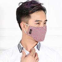 Wholesale Grid Cotton linen dust mask PM2 filter kpop mask Surgical Windproof Mouth muffle Anti Dust Masks Flu Face masks