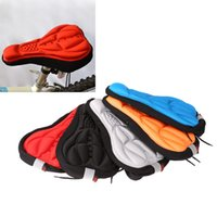 Wholesale Colors Cycling MTB Bicycle Saddle Cover Comfortable Bike Seat Cushion D Breathable Soft Pad