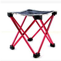Wholesale Four gold corner folding stool Portable campstool Outdoor folding chair Aluminium alloy