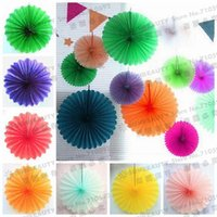 big pinwheel - Big cm pc Tissue Paper Fan Tissue Paper Pinwheels Wedding Fans Hanging Decoration Party Wedding Showers Birthday Home Decors