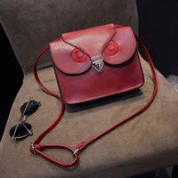 Wholesale Fashion Faux Leather Messenger Bags Crossbody Bag Owl Print Hasp Satchel Ladies Purse Shoulder Bag Bolsa Feminina ZB0397 salebags