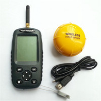 Wholesale FFW718 Fish finder Upgrade FF998 Russian menu Rechargeable Waterpoof Wireless Fishfinder Sensor kHz Sonar echo sounder