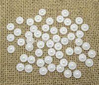Wholesale Home Decoration Chrismas Resin Crafts White Semi Circle Flowerl Kawaii Cabochon Scrapbooking DIY Crafts Wedding mm
