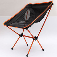 best fishing chair - Best Price Light weight Folding Camping Stool Chair Seat For Fishing Festival Picnic BBQ Beach With Bag Orange Blue