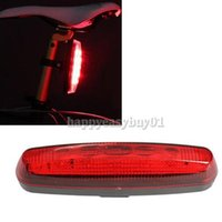 Wholesale 5 Bike Bicycle LED Flashlight Bicycle Rear Tail Light Torch Back Light Lamp Bike Bicycle Cycling Red Rear Light BHU2