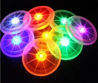 Wholesale 50pcs HOT Colors Pet Dog UFO Shape Supplies Frisbee Toys Flying Discs LED Luminous Sports Frisbees PU D583