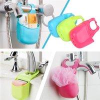 Wholesale New Arrivals Portable Kitchen Sink Sponge Holder Strainer Storage Box Shelve Rack PVC JA25
