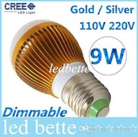 Cheap Free shipping High power CREE Led Lamp 9W Dimmable GU10 E27 E14 B22 Led spot Light Spotlight led bulb downlight lighting
