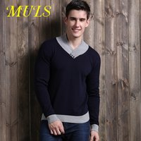 100 cashmere sweater - Men Cotton pull homme cashmere Full turtleneck jumper brand Turn down Collar England Style Solid Pullovers fashion long sleeve sweater