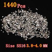 Wholesale 2Bag One Grade AAAA Glitter SS16 MM Eyelash Strass DIY Decortation Flatback Glass D Nail Art Crystal Non Hotfix Rhinestones