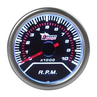 Wholesale 2pcs quot mm RPM Car Vehicle White LED Universal Tachometer Tacho Gauge Meter RPM CEC_523