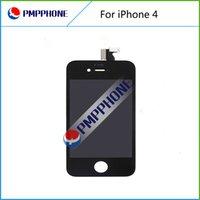 Écran noir Couleur Façade en verre tactile de remplacement Assemblée LCD Digitizer Pour Outils iPhone 4 4G avec livraison gratuite