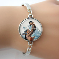 baby shower gifts for mom - pc Baby and Mermaid charm mermaid bracelet mother and child gift for mom baby shower alloy sex bangle