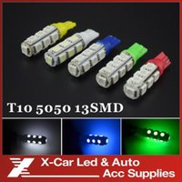 Wholesale 10X V T10 W5W SMD LED Car Light Bulb Lamp Wedge Vehicle Auto Side Tail Lights Bulbs Interior Dome Map
