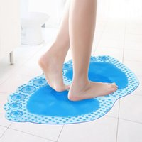 Wholesale Big Foot Color Bathroom Shower Mats Anti slip PVC Sucker Massage Mats Safety Toilet Kitchen Suction Cushion SK759