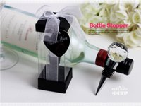 ball express - 100pcs Wedding Souvenirs Gift Faceted Clear Crystal Ball Top Wine Bottle Stopper Free Express Shipping