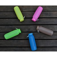 Wholesale New ml Multi Purpose Food Silicone Foldable Water Bottles Mini Portable Outdoor Travel Fishing Bike Cycling Sports Water Cups H SB01