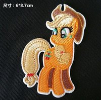 applejack pony - 2 inch HOT My Little Pony Iron On Patches AppleJack Made of Cloth Guaranteed Quality Appliques sew on patch GP