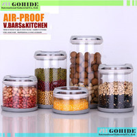 glass canister set - Super quality Glass storage jar storage bottle candy food milk cans coffee canister ml ml in piece set free delivery