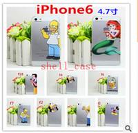 Wholesale 2015 iPhone S plus S S Case Cartoon Simpson Frozen Spiderman Snow White Mermaid Slim Hard Plastic Back Cases Cover free DHL