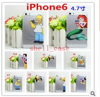 Wholesale Christmas gift iPhone S S S Cute Cartoon Simpson Hand Grasp Snow White Pattern Slim Plastic Hard Back Case Cover for iphone6 DHL
