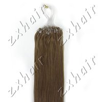 Wholesale New Wonderful Quality inch Real Loop tipped Micro Loop Ring Hair Extension Color Light Brown s pack g g s