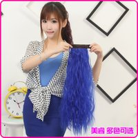 Wholesale Pat circle corn curls ponytail long hair the color of corn hot ponytail ponytail lovely sweet