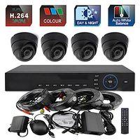 Wholesale 4CH H CCTV DVR Kit IR Color Waterproof Dome Security Cameras System TVL MM