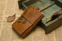 Wholesale 2015 Vintage Style Leather Cover Notepads Journal Diary Blank String Nautical Feida traveler pirate diary options