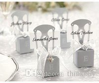 Wholesale Factory directly sale wedding favor box Monogram Silver Chair Favor Box